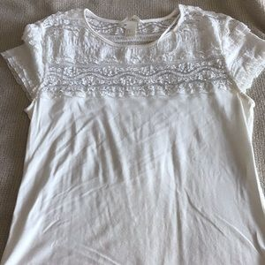 h and m lace t shirt
